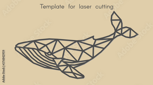 Leinwand Poster Template animal for laser cutting