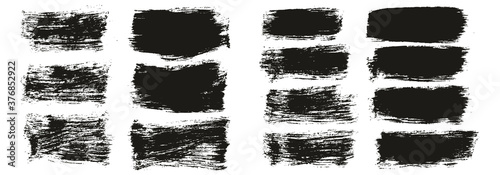 Fotografie, Obraz Flat Paint Brush Thick Short Mix Background High Detail Abstract Vector Backgrou