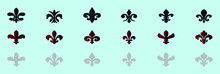 Fleur De Lis Symbol Icon With ...