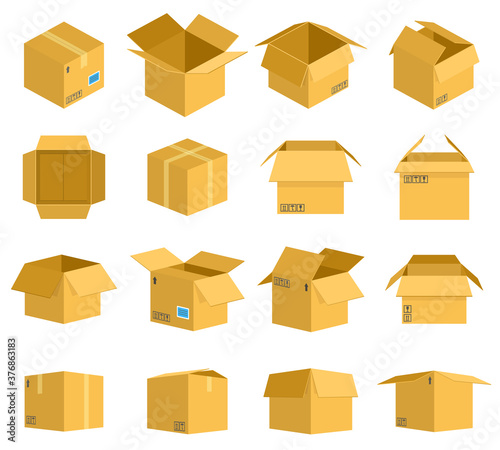 Canvastavla Cardboard box