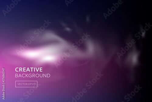 Photo Abstract smoke on blend dark blue purple gradient background