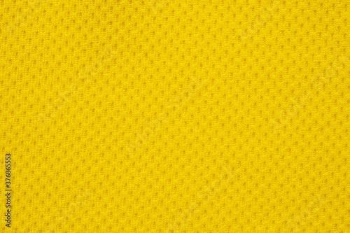 Yellow sports clothing fabric football shirt jersey texture close up Canvas-taulu