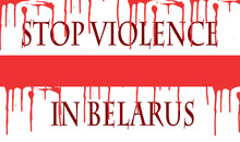 The Flag Of Belarus Bloodied W...