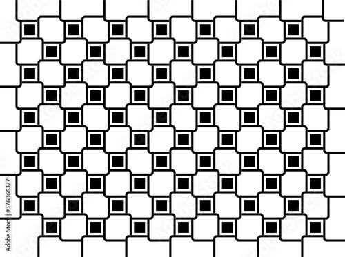Photo Patrón asimétrico de cuadros negros