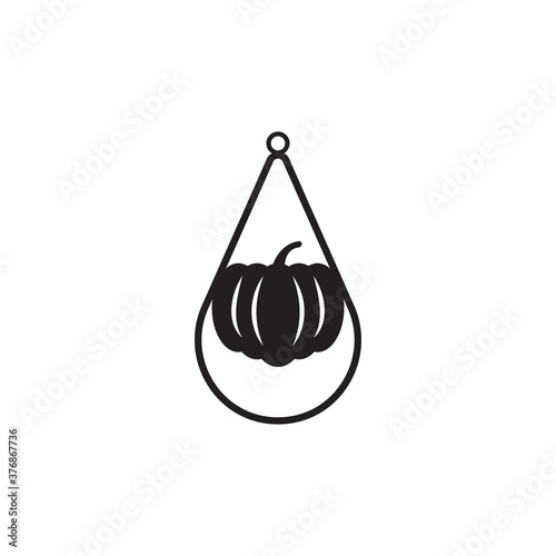 Fotografering Teardrop earring icon design template vector isolated