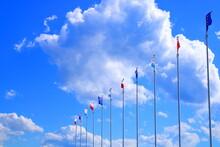 Flagi Na Tle Nieba.