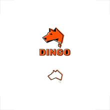 Abstract Dingo Dog Design Australia Continent Shape Logo Design