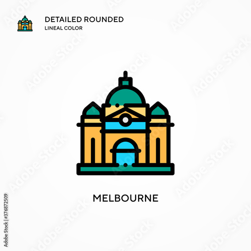 Melbourne vector icon Fototapete