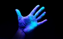 UV Ultraviolet Light On A Hand...