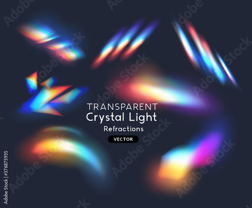 Obraz na plátně Crystal Rainbow Light Effects