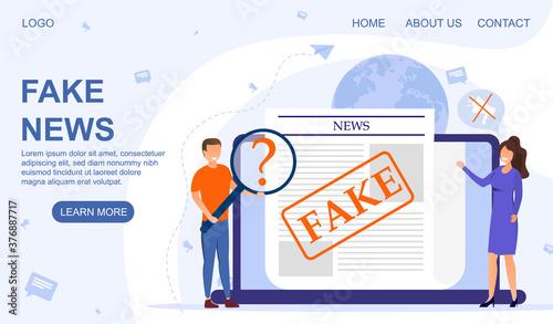 Papel de parede Fake news and fake media concept