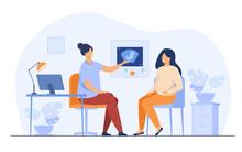 Happy Pregnant Woman Consultin...