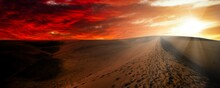 Night In The Desert Sand Dunes...