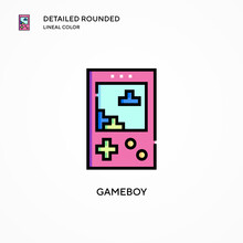 Gameboy Vector Icon. Modern Ve...
