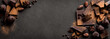 canvas print picture - Dark Chocolate Background