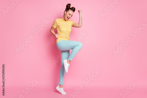 Full length body size view of her she nice attractive lovely pretty glad overjoy Fototapete