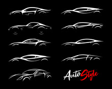 Concept Sports Car Silhouettes...