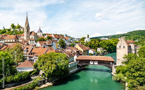Tela View of Baden, a town in Aargau, Switzerland