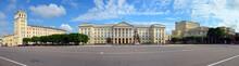 Lenin Square, Regional Government Building And Lenin Monument. Smolensk City, Smolensk Oblast, Russia.