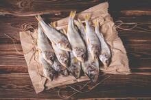 Beautiful Dried Fish On A Pape...