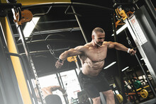 Muscular Bodybuilder During Hi...