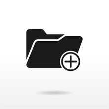 Add Folder Icon Vector Eps 10