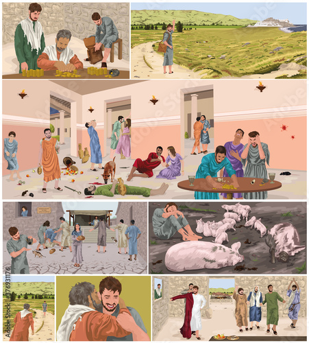 Tela The Parable Of The Prodigal Son Storyboard (Luke 15)
