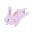 jumping rabbit animal cartoon isolated icon style