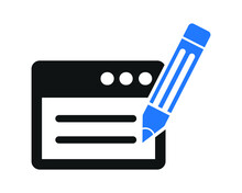Content Edit Icon, Document Edit Icon