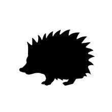 Hedgehog Silhouette. Vector Ic...