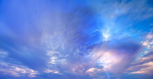 Lightning Strikes Between Blue...