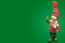Christmas Bell Boy Figure, Upo...