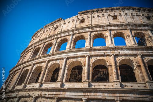 Canvas Print The Roman Colosseum (Coloseum) in Rome