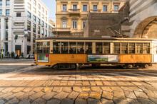 Old Tram At Archi Di Porta Nuo...