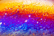 canvas print picture - Beautiful psychedelic abstraction formed by light on the surface of a soap bubble