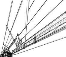 Lined Architectural Wallpaper, Digital Background