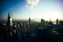 New York Buildings At Sunset, ...