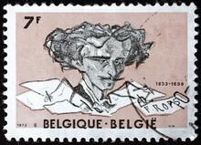 Postage Stamp Belgium 1973 Self-portrait By Felicien Rops