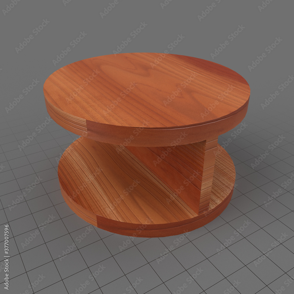 Fototapeta Oak coffee table