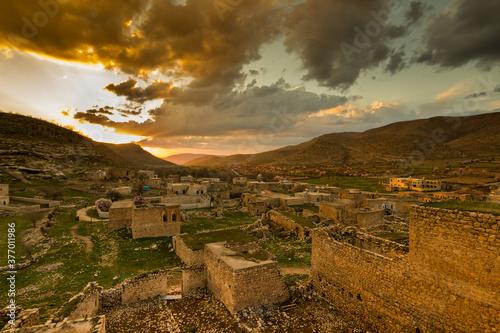 sunset in syriac village qillit mardin