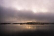 Cachuma Lake In Fog At Sunrise