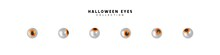 Set Of Pupils Of Eyes. Halloween Objects. Vector Illustration