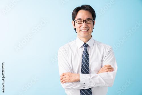 Canvastavla 笑顔のミドル男性 ビジネス