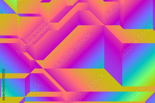 cubist spectrum gradient Wallpaper Mural