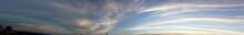 Cielo Azul Panorámico En El Atardecer