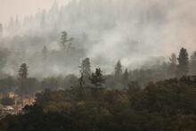 Wild Fires Near Highway 62 In ...