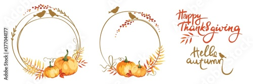 Frames for Thanksgiving Day or wedding invitation Wallpaper Mural
