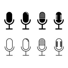Microphone Icon Vector Set. Au...