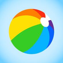 Beach Ball, Multi-colored Beac...