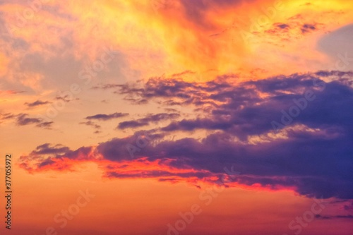Fototapeta red sky with clouds at sunrise or sunset obraz